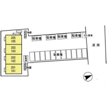 グランモア千秋[2K/29.84m2]の配置図