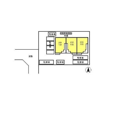 カリーノビータ[2DK/51.29m2]の配置図