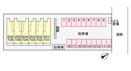 スプレンドルⅡ[1LDK/52.11m2]の配置図