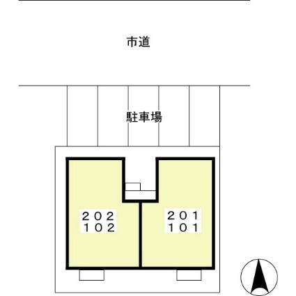 メゾン ボヌール K[1LDK/40.43m2]の配置図
