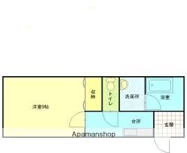 ウインベル加賀[1K/30.41m2]の間取図