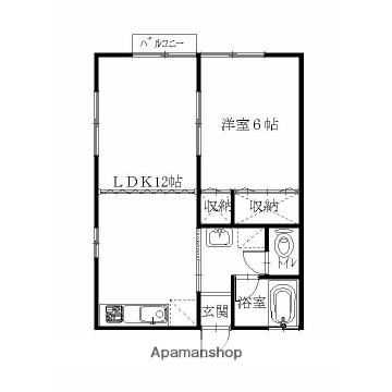 We,川崎[1LDK/38.88m2]の間取図