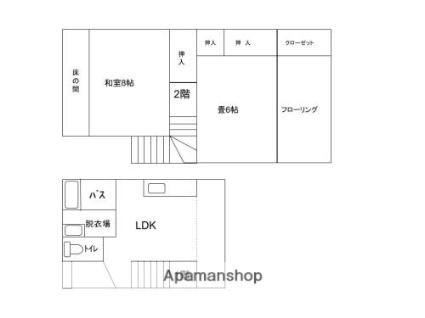 山形県寒河江市元町4丁目[3DK/66.24m2]の間取図