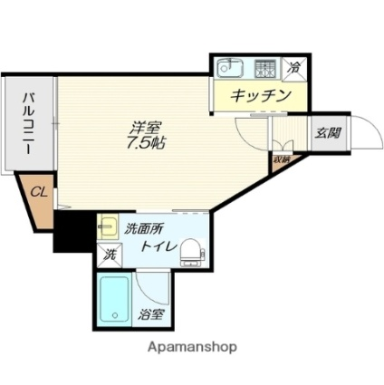 Dwell In 吉原[1K/25.91m2]の間取図