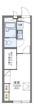 レオパレスメープル[1K/22.35m2]の間取図