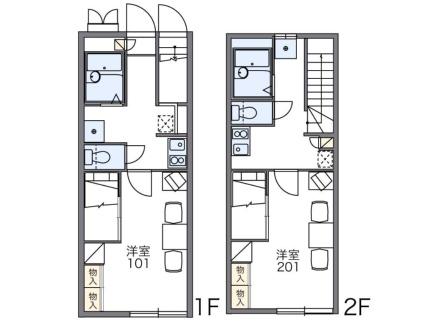 レオパレスCANY[1K/23.72m2]の間取図