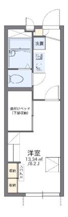 レオパレスSTAY小立[1K/22.35m2]の間取図