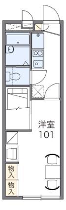 レオパレスGON GON[1K/22.35m2]の間取図