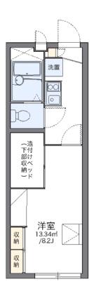 レオパレスKIRA[1K/22.35m2]の間取図