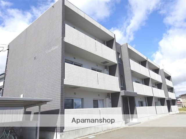 山形県米沢市、西米沢駅徒歩15分の築1年 3階建の賃貸マンション