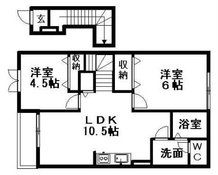 ピュアローズ[2LDK/51.67m2]の間取図