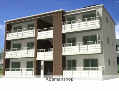 福島県福島市、岩代清水駅徒歩15分の築3年 3階建の賃貸アパート