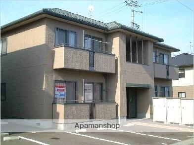 福島県福島市、桜水駅徒歩8分の築17年 2階建の賃貸アパート
