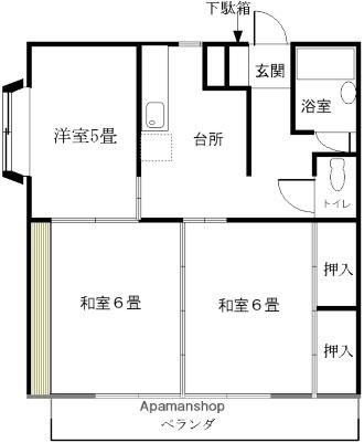 コーポ川崎[3DK/49.68m2]の間取図