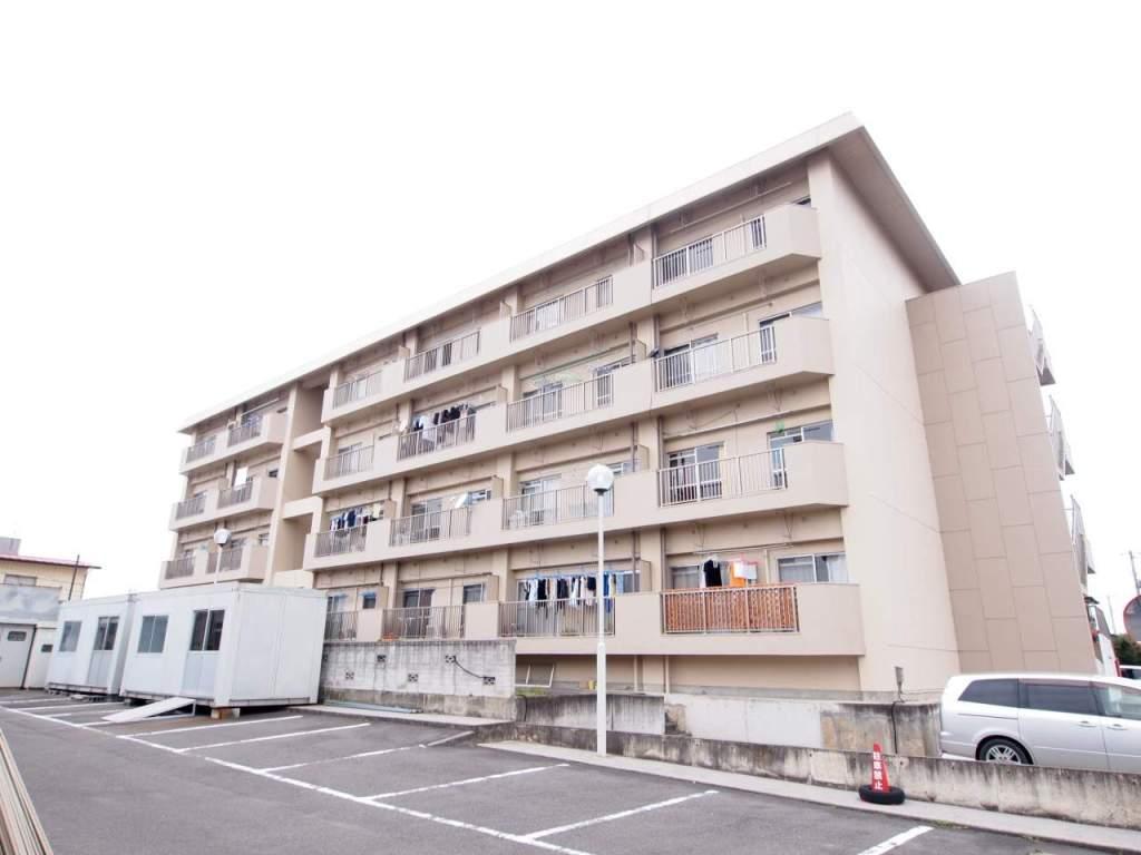 福島県郡山市、安積永盛駅徒歩3分の築35年 4階建の賃貸マンション