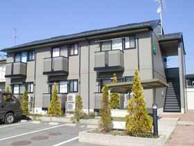 福島県郡山市の築16年 2階建の賃貸アパート