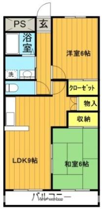 福島県郡山市字名倉[2LDK/55.29m2]の間取図