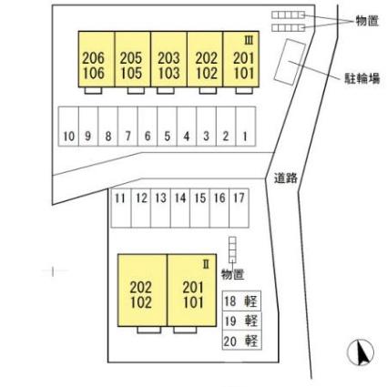 福島県郡山市富久山町久保田字梅田[2LDK/62.39m2]の配置図