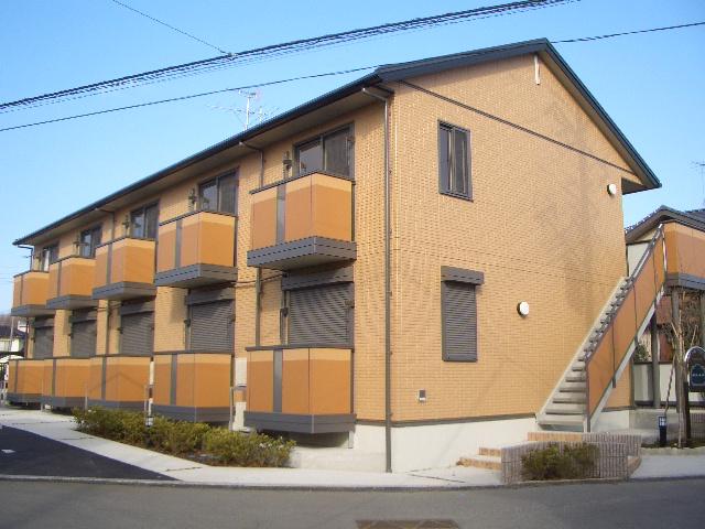茨城県常総市、水海道駅徒歩10分の築8年 2階建の賃貸アパート