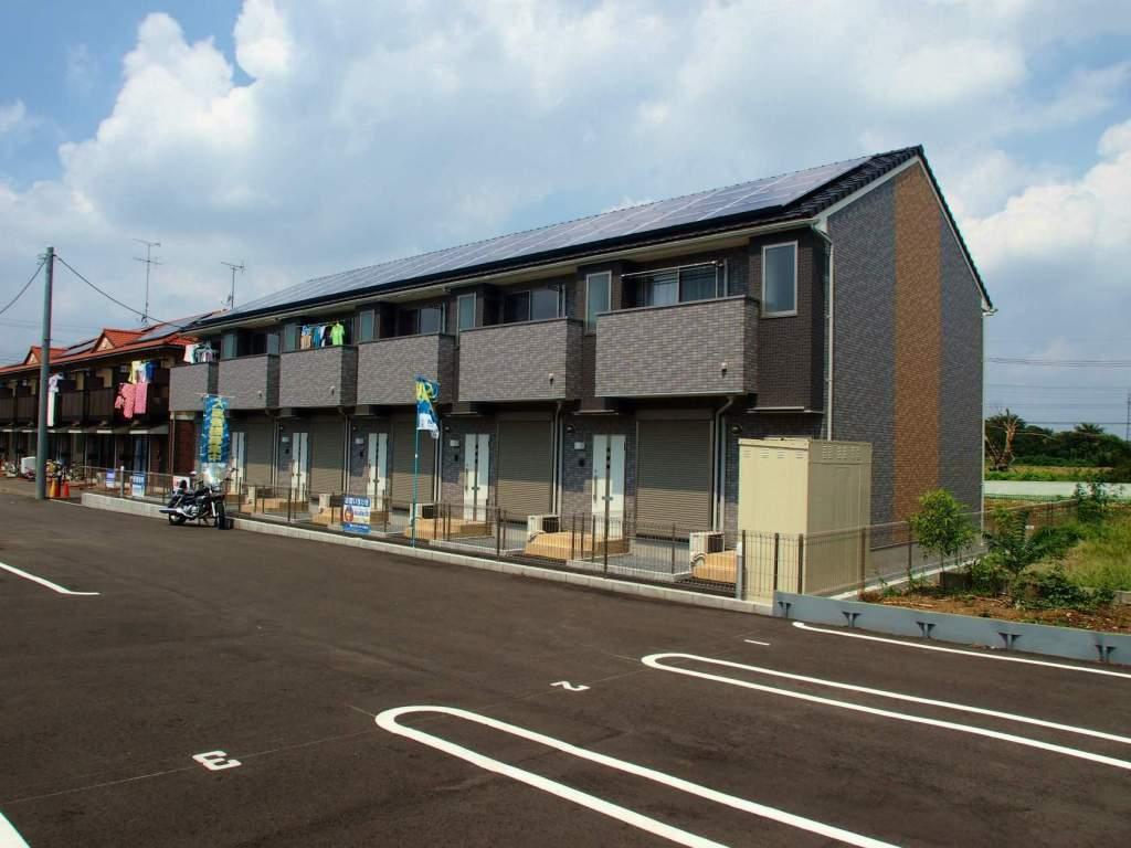 茨城県坂東市の新築 2階建の賃貸テラスハウス