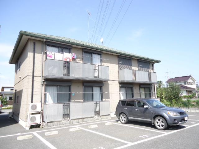 茨城県古河市の築16年 2階建の賃貸アパート