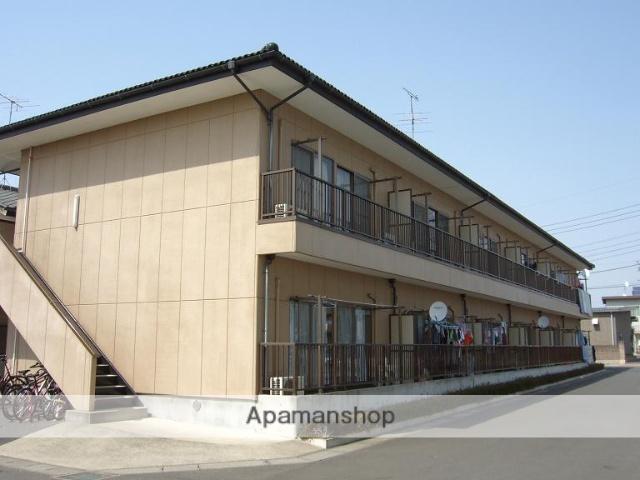 茨城県古河市、古河駅バス25分久能住宅地下車後徒歩10分の築27年 2階建の賃貸アパート