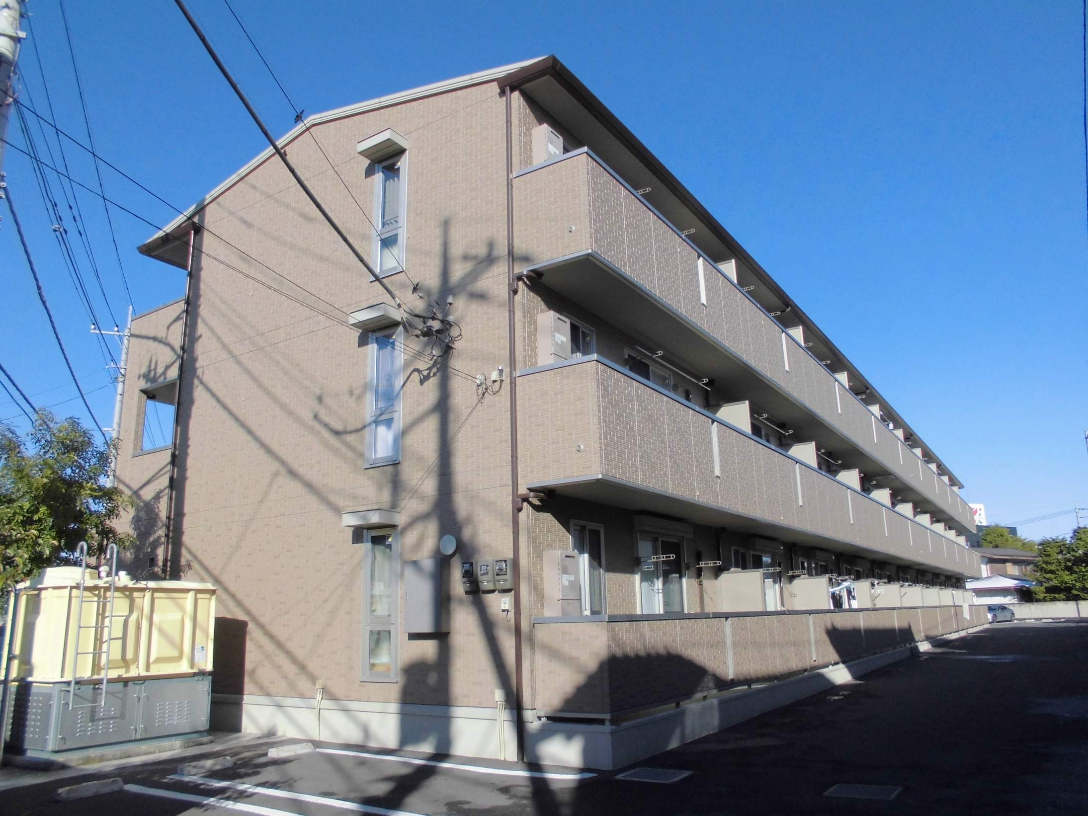 茨城県古河市、古河駅徒歩4分の築5年 3階建の賃貸アパート