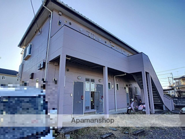 茨城県古河市、古河駅徒歩22分の築24年 2階建の賃貸アパート