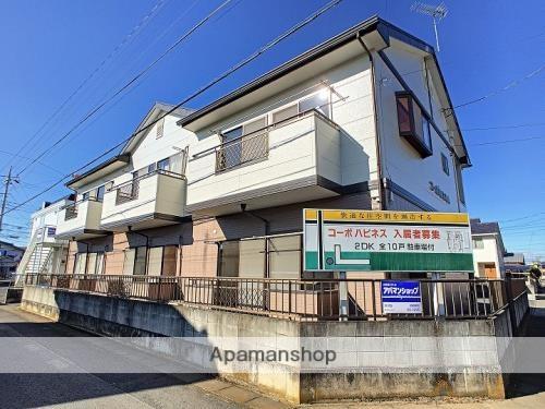 茨城県古河市、古河駅徒歩40分の築23年 2階建の賃貸アパート