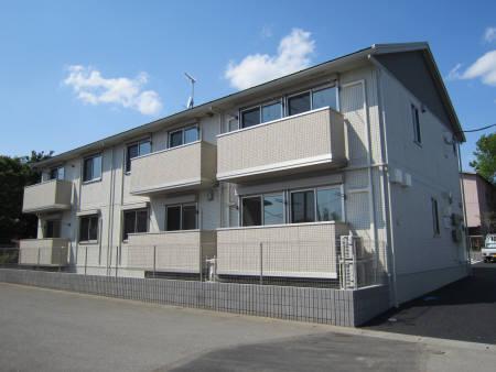茨城県古河市、古河駅バス15分久能新田下車後徒歩5分の築4年 2階建の賃貸アパート