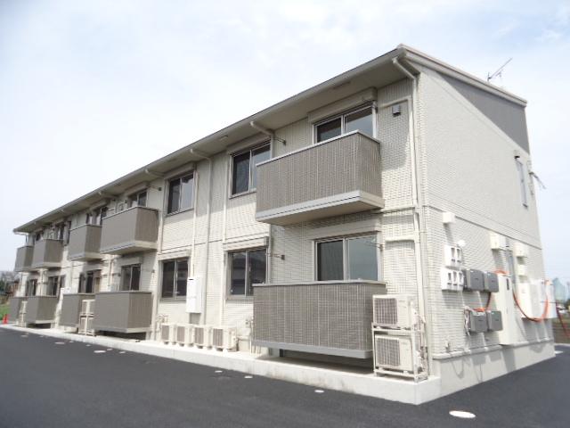 茨城県古河市、古河駅JRバス関東バス12分西女沼下車後徒歩10分の築1年 2階建の賃貸アパート