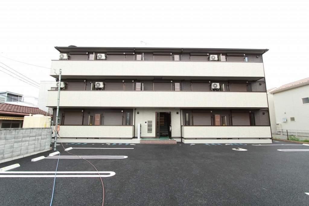 茨城県古河市、古河駅徒歩9分の新築 3階建の賃貸アパート