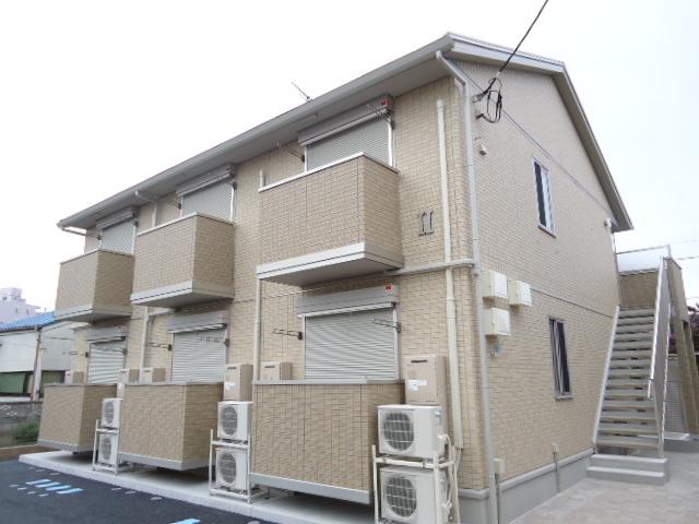 茨城県古河市、古河駅徒歩9分の築3年 2階建の賃貸アパート