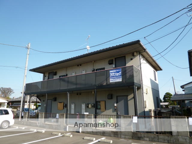 茨城県水戸市、内原駅徒歩10分の築18年 2階建の賃貸アパート