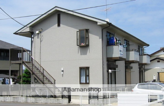 茨城県笠間市、友部駅徒歩15分の築19年 2階建の賃貸アパート