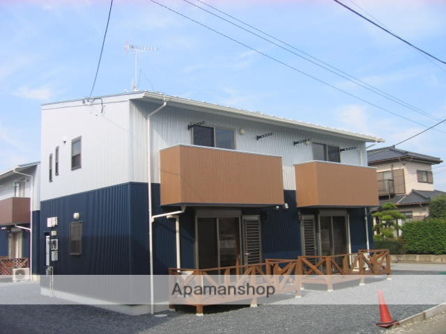 茨城県笠間市、友部駅徒歩22分の築10年 2階建の賃貸アパート
