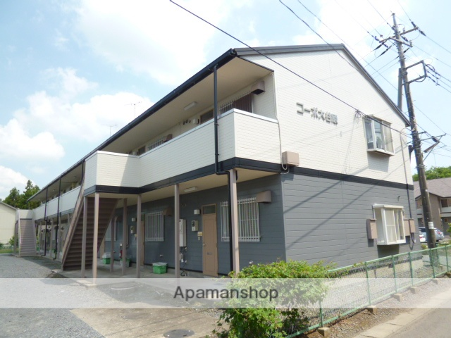 茨城県笠間市、岩間駅徒歩14分の築24年 2階建の賃貸アパート