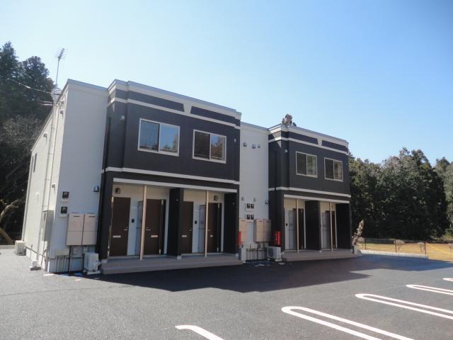 茨城県石岡市、石岡駅バス10分八軒入口停下車後徒歩15分の新築 2階建の賃貸アパート