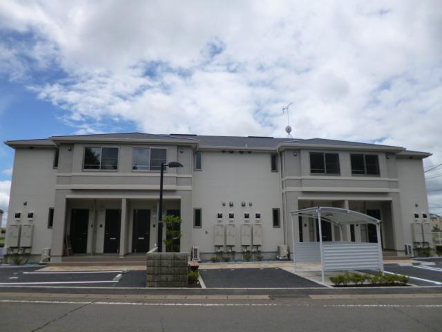 茨城県笠間市、友部駅徒歩20分の築2年 2階建の賃貸アパート