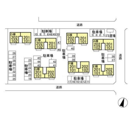 サンビレッジ・プルミエ[3LDK/67.41m2]の配置図