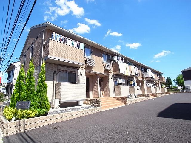 茨城県つくば市、つくば駅バス5分春日2丁目下車後徒歩5分の築4年 2階建の賃貸アパート