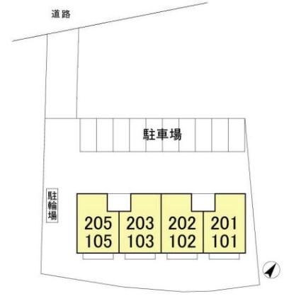 サンハイツ中島[3DK/53.68m2]の配置図