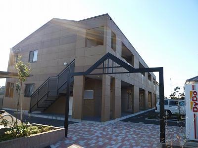 茨城県神栖市、銚子駅バス30分土合西下車後徒歩8分の築8年 2階建の賃貸アパート