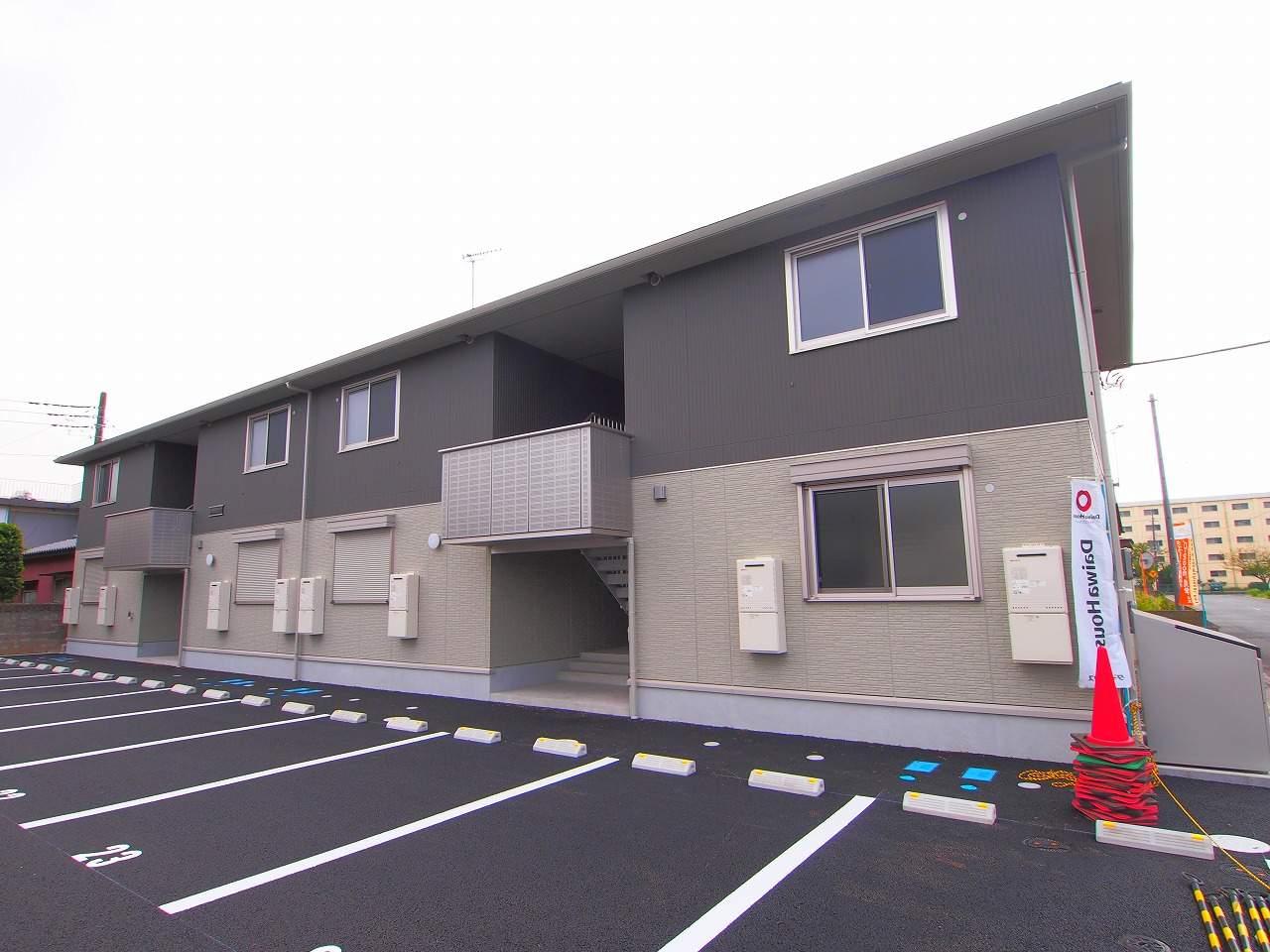 茨城県神栖市、鹿島神宮駅バス32分鹿島セントラルホテル下車後徒歩31分の築4年 2階建の賃貸アパート
