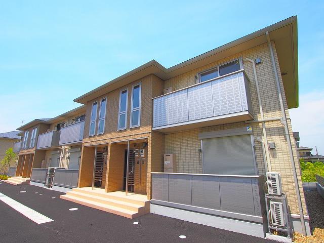 茨城県神栖市、鹿島神宮駅バス51分済生会病院下車後徒歩54分の築3年 2階建の賃貸アパート