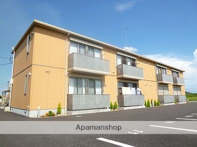 茨城県神栖市、鹿島神宮駅バス25分深之出波下車後徒歩10分の築10年 2階建の賃貸アパート