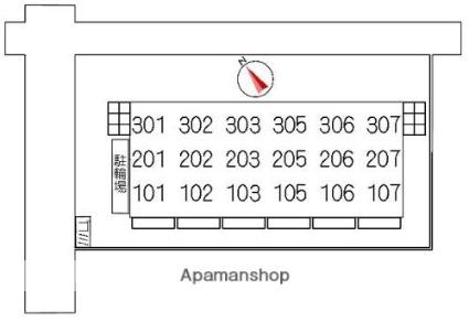 大伸コーポ[3LDK/73m2]の配置図
