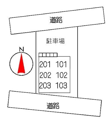 プロニティ・ハイムK[2LDK/51.66m2]の配置図