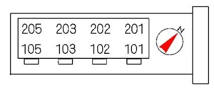 アプリコットメゾン[2LDK/53.76m2]の配置図