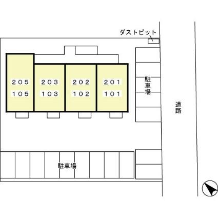 ルミエール[1LDK/45.29m2]の配置図